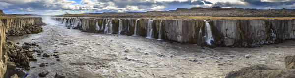 Cascade à écriture ligne par ligne de Selfoss Photo stock