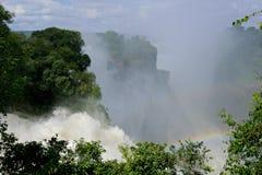 Cascade à écriture ligne par ligne de Victoria, Zimbabwe Image stock