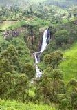 Cascade à écriture ligne par ligne du Devon au Sri Lanka photographie stock libre de droits