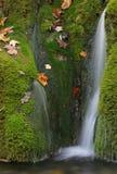 Cascade à écriture ligne par ligne en automne Photographie stock