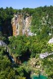 Cascade à écriture ligne par ligne en Croatie Image stock
