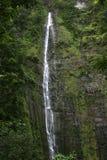 Cascade à écriture ligne par ligne en Hawaï Photo libre de droits