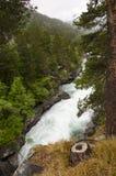 Cascade à écriture ligne par ligne en Norvège Photo libre de droits