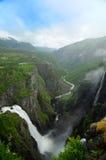 Cascade à écriture ligne par ligne en Norvège Image libre de droits