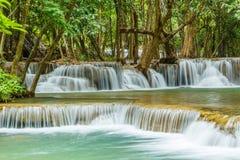 Cascade à écriture ligne par ligne en Thaïlande Image libre de droits