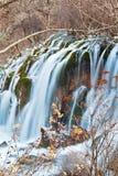 Cascade à écriture ligne par ligne en vallée 3 de Jiuzhai Images libres de droits