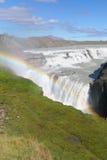 Cascade à écriture ligne par ligne Gulfoss Islande Photographie stock libre de droits