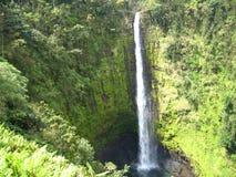 Cascade à écriture ligne par ligne hawaïenne Image libre de droits