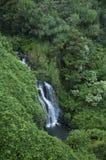 Cascade à écriture ligne par ligne hawaïenne Images libres de droits