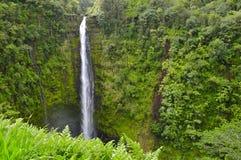 Cascade à écriture ligne par ligne hawaïenne Photos stock