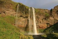 Cascade à écriture ligne par ligne islandaise Images stock