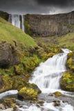Cascade à écriture ligne par ligne islandaise Image libre de droits