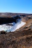 Cascade à écriture ligne par ligne Islande de Gullfoss Photographie stock libre de droits
