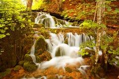 Cascade à écriture ligne par ligne, lacs Plitvice Photo libre de droits