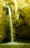 Cascade à écriture ligne par ligne rocheuse Images stock