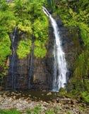 Cascade à écriture ligne par ligne sur le Tahiti images stock