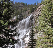 Cascade à écriture ligne par ligne sur les Animas fleuve, le Colorado Images libres de droits
