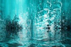 cascade à écriture ligne par ligne surréaliste calmante abstraite de vue Photographie stock libre de droits