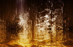 cascade à écriture ligne par ligne surréaliste calmante abstraite de vue Images libres de droits