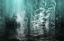 cascade à écriture ligne par ligne surréaliste calmante abstraite de vue Photo libre de droits