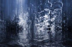 cascade à écriture ligne par ligne surréaliste calmante abstraite de vue Image libre de droits