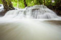 Cascade à écriture ligne par ligne tropicale de forêt tropicale Images libres de droits