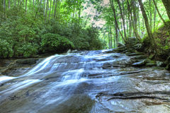 Cascade. Of water through forest in north carolina, hdr image Stock Photos