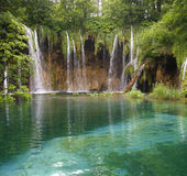 Cascade. In Plitvice park (Croatia royalty free stock photography