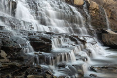 Cascade. Waterfall with blurred motion Stock Image