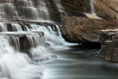 Cascade. Waterfall and rocky gorge Royalty Free Stock Photography