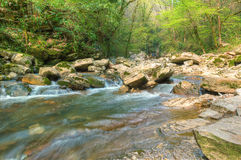 Cascade on the Agura River in Sochi, HDR Royalty Free Stock Image