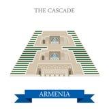 Cascade in Armenia landmarks vector flat attraction. Cascade in Armenia. Flat cartoon style historic sight showplace attraction web site vector illustration Stock Photography