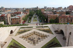 Cascade. Armenian architectual buildings from this Cascad you can see the main arcitectual forms of Yerevan Stock Images