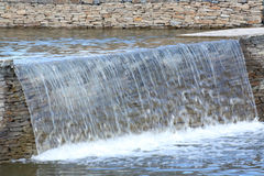 Cascade of artificial waterfalls. In the city park Stock Photography