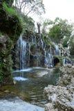 Cascade artificielle en parc Istanbul Turquie d'Emirgan images libres de droits