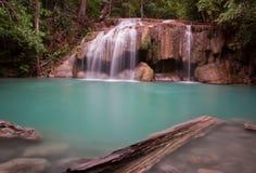Cascade Asie Thaïlande d'Erawan Photos libres de droits