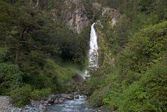 Cascade au Général Carrera Lake, Chili Images stock
