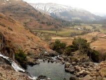Cascade au secteur de lac, Cumbria, Angleterre R-U Photographie stock