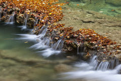 Cascade in autumn forest Stock Image