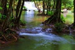 Cascade avec la forêt tropicale de l'eau bleue et Photos libres de droits