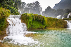 Cascade beautiful waterfalls in dense tropical forest Stock Images