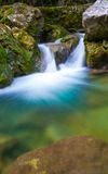 Cascade in big canyon, Royalty Free Stock Photography