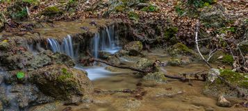 Cascade in big canyon, Royalty Free Stock Photo