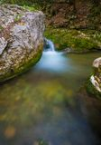 Cascade in big canyon, Royalty Free Stock Image