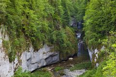 Cascade of Billaude, Jura Stock Photography