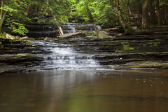 Cascade at Bozenkill Preserve. Cascade of Bozenkill Falls in spring time stock photography