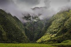 Cascade Bras d'Anette et ses falaises, Ile de La Réunion Stock Photo