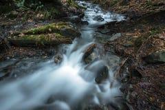 Cascade Breeze. A cascade travels through Bridal Falls Provincial Park, Fraser Valley, BC, Canada Stock Images