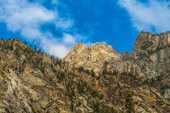Cascade Canyon - Grand Teton National Park. Blue Sky over Beautiful Cascade Canyon - Grand Tetons royalty free stock image
