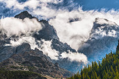 Cascade Canyon - Grand Teton National Park. Dramatic Sky over Beautiful Cascade Canyon - Grand Tetons stock image